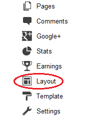layout setting blogger