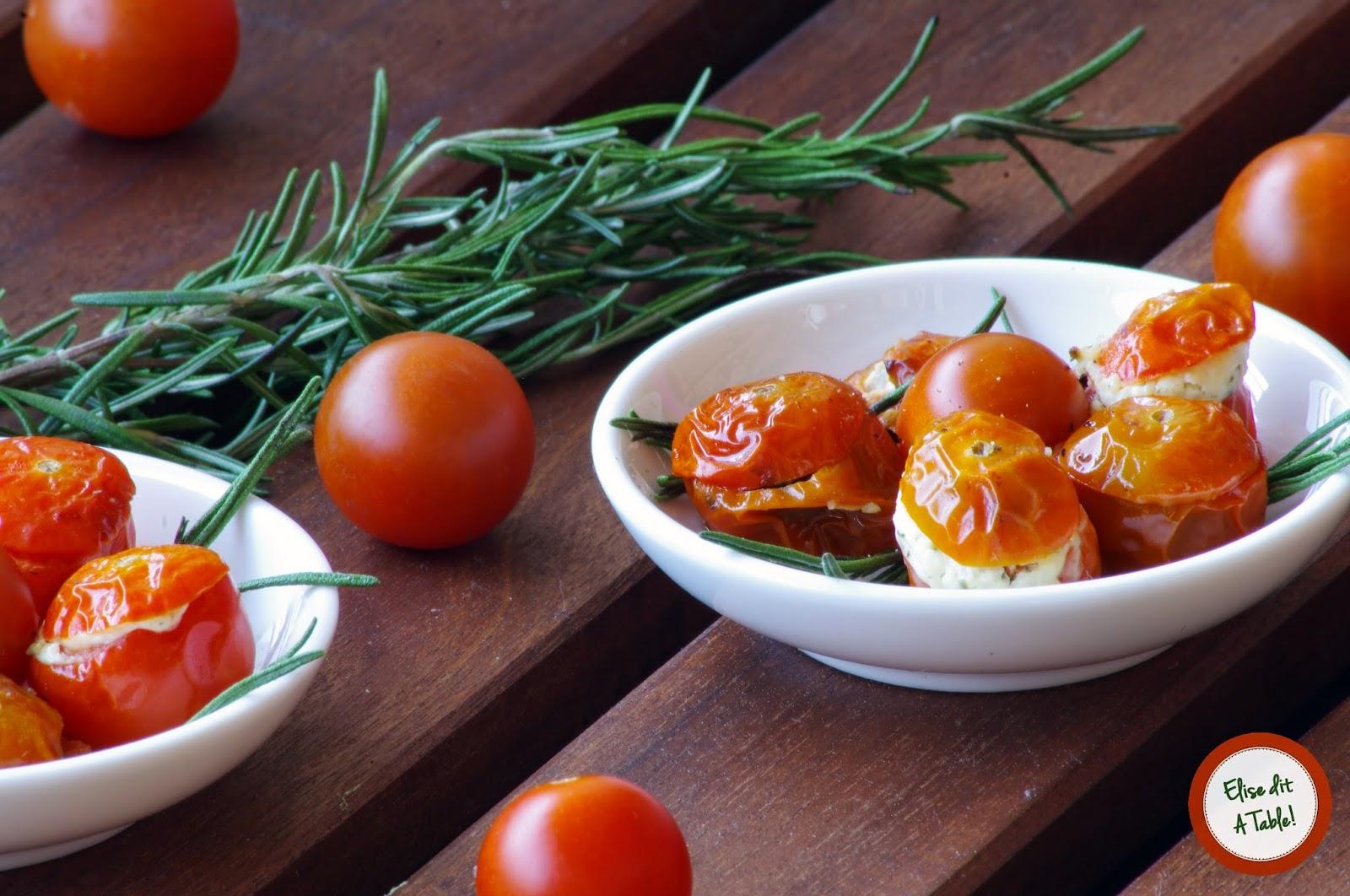 recette apéritif tomate cerise farcie