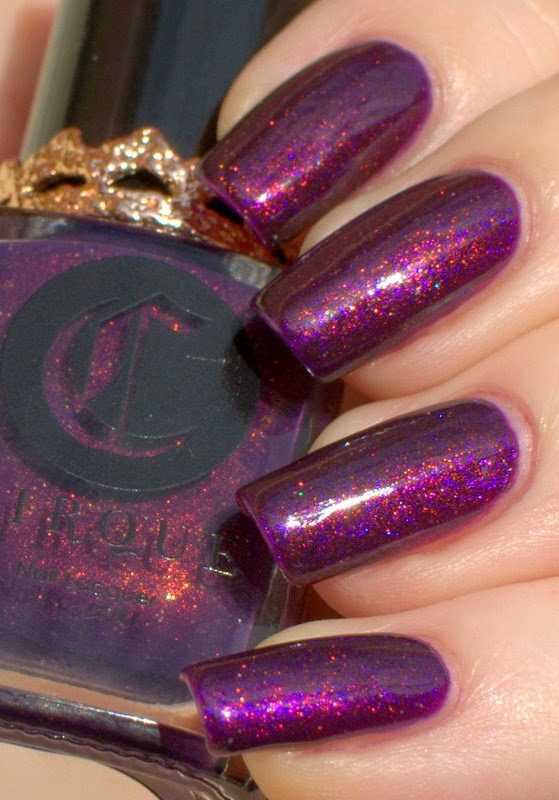 Ulta3 Blackberry Tart with Revlon Grape Fizz and Cirque Coronation