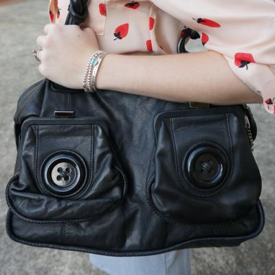Away From Blue Mimco Black Button bag handbag