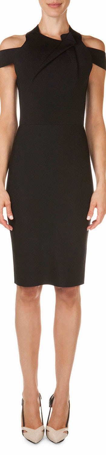Roland Mouret  Swangrove Harness-Strap Knit Dress