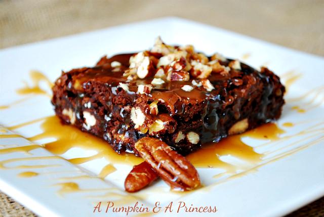 Pecan Turtle Brownies Recipe — Dishmaps
