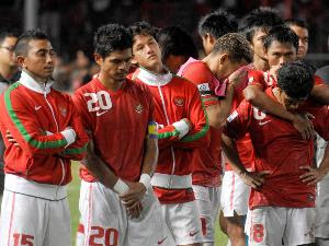 expression of Indonesia players when lose from Bahrain