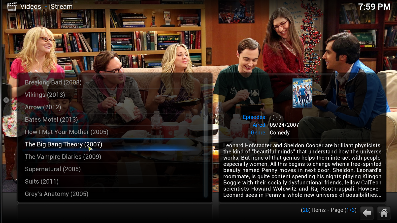 big bang theory xbmc