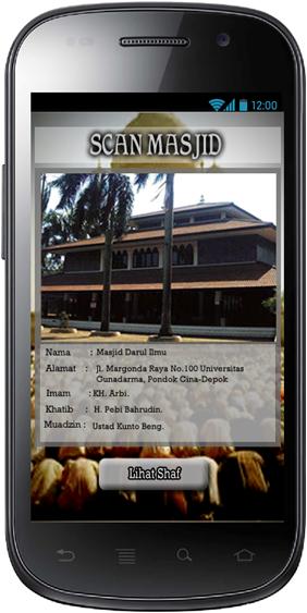 Aplikasi Shaf Finder: Halaman Lihat Informasi Masjid