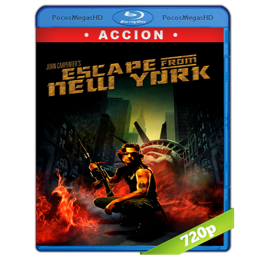 Escape from New York(1981) BrRip 720p Inglés AC3+subs