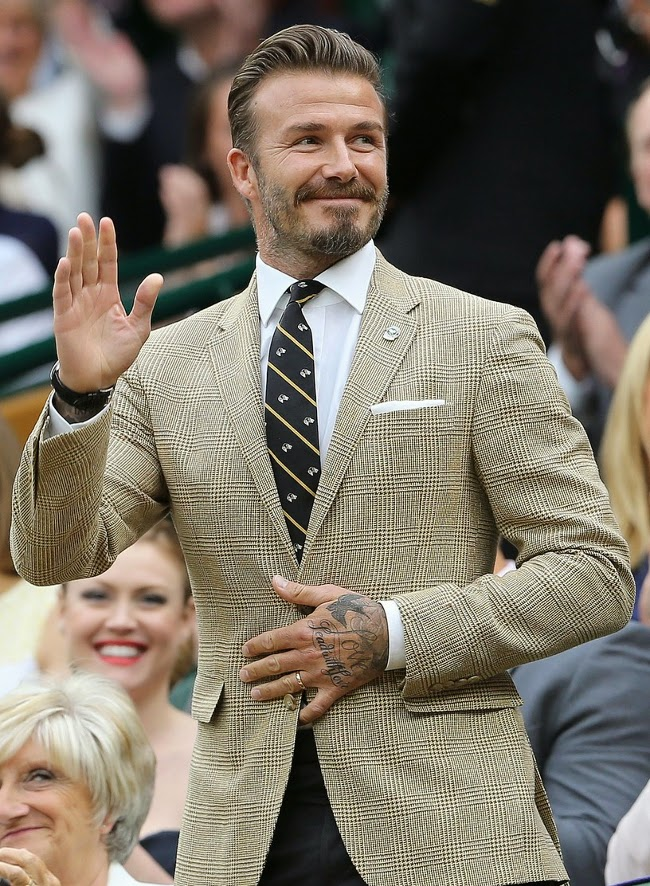 David Beckham elegante en wimbledon