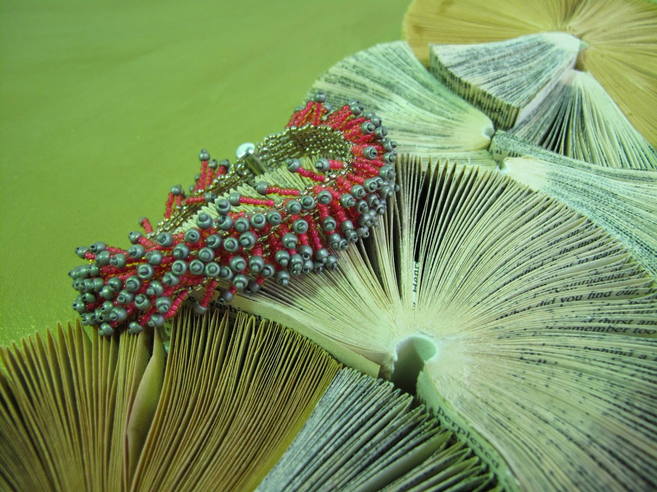 Beloved Beadwork meets Simple Intrigue Book Art