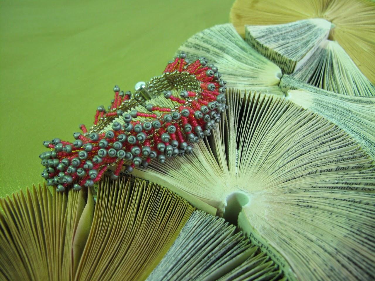 Beloved Beadwork meets Simple Intrigue Book Art