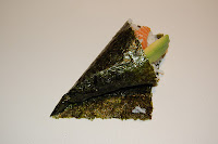 ... goujon temaki and tinned sweetcorn over the fish finger temaki