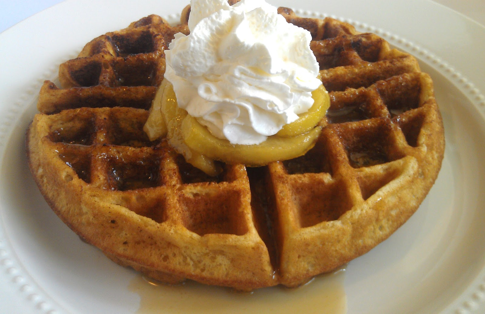 Girl + Food = Love: Cinnamon Sugar Waffles with Caramel Apple Syrup
