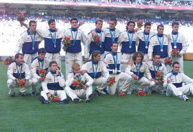 España con la medalla de plata en Sidney 2000