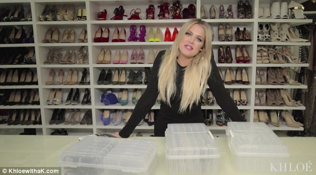 Khloe Kardashian shows off her incredible shoes collection!