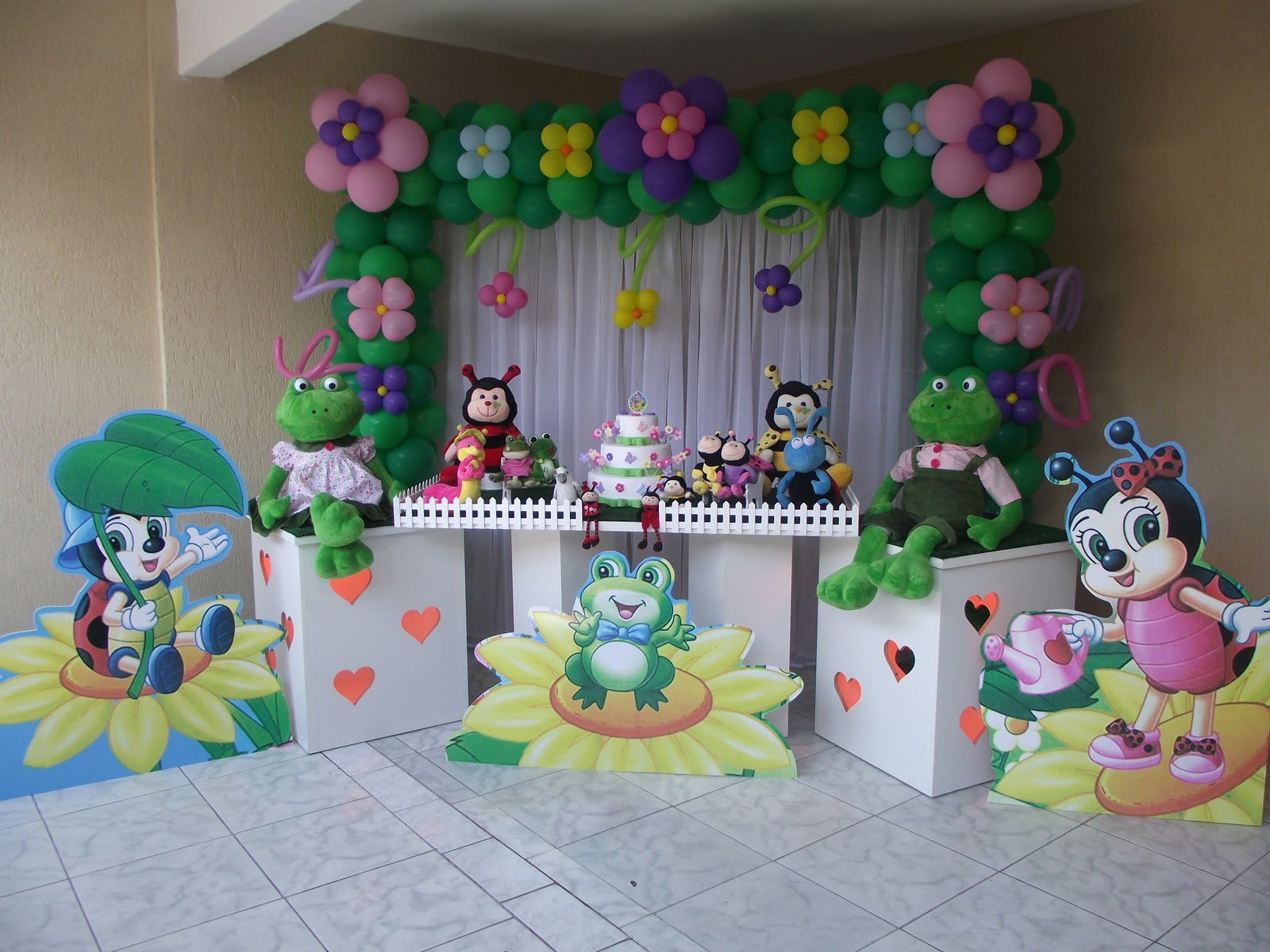 mesa infantil jardim:Enfeites De Mesa Festa Infantil Princesas Minnie E Jardim Encantado
