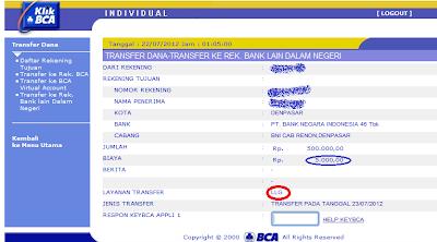 transfer antar bank, RTGS, LLG, internet banking, Indonesian Internet Banking, BCA internetbanking, klikbca, BNI internet banking