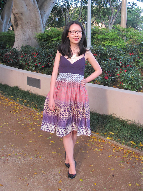 {Purple Haze} Witchery shimmering dress on petiteplayground.blogspot.com