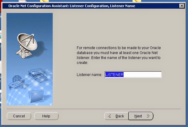 How to create oracle listener