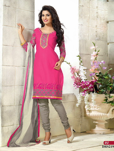 Buy Online Designer Embroidery Dress Material