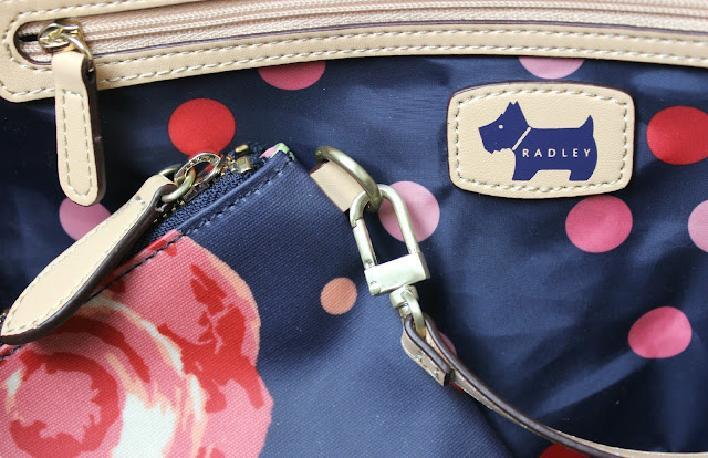 The Radley Autumn Rose Large Weekender is perfect for a quick getaway or hotel stay