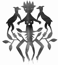 Creature, papercut  by Elsinore Smidth Carabetta
