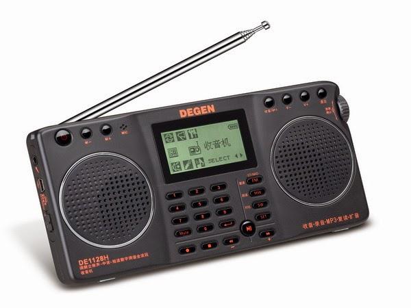 Радиоприемник Degen DE-1128H мультимедийный всеволновый цифровой радиоприемник с MP3 плеером диктофоном и русским меню