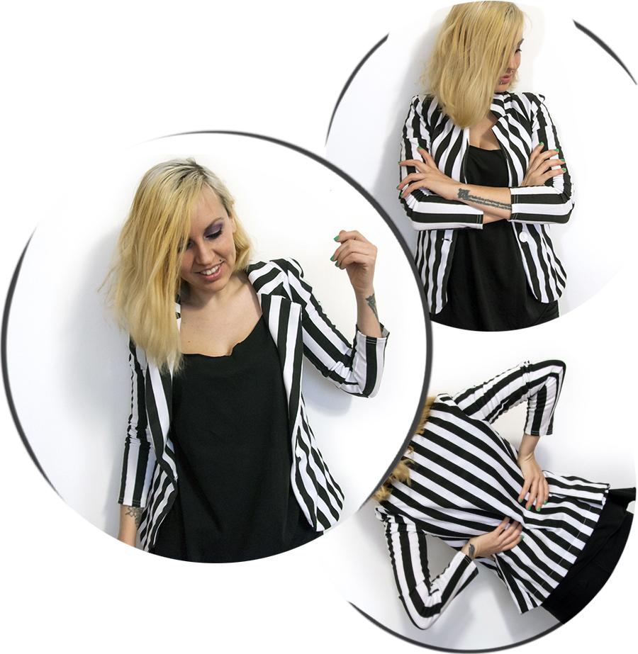 For Peet's Sake blog black and white striped blazer