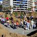 Arrancan los trabajos en el belén de arena de la playa de Las Canteras, que abrirá al público el 5 de diciembre.