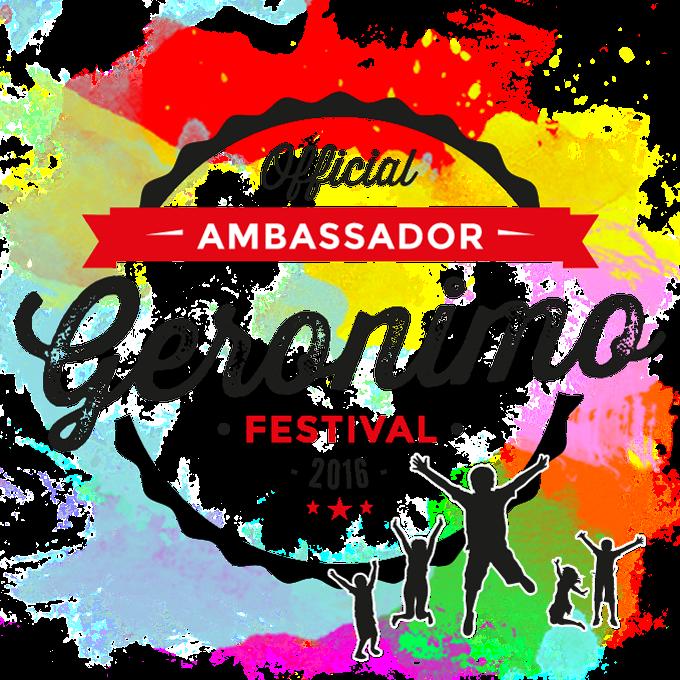 Geronimo Festival Ambassador 2016