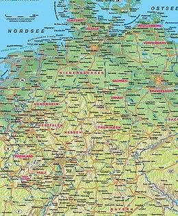Almanya Fiziki Haritas�