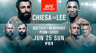 UFC Fight Night 112: Chiesa vs. Lee  EN VIVO