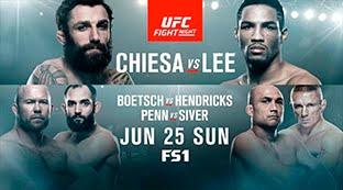 UFC Fight Night 112: Chiesa vs. Lee  EN VIVO