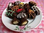 Datolyás szaloncukor recept, karácsonyi édesség, marcipánnal töltve, és csokoládémázzal bevonva.