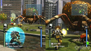 Earth Defense Force Insect Armageddon Split screen gameplayer