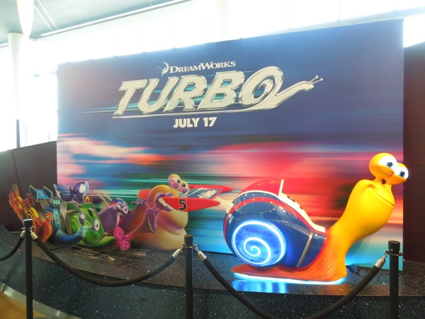 DreamWorks Turbo cinema standee