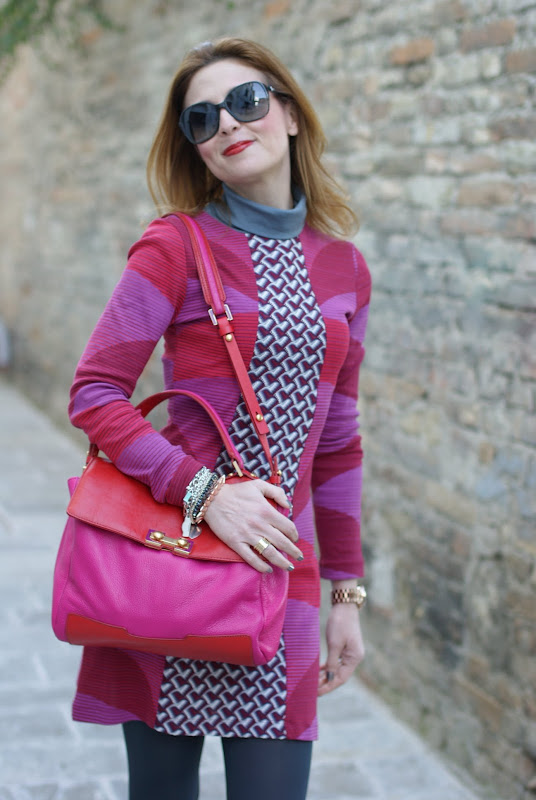 Marc by Marc Jacobs bag, fuchsia and red, Fashion and Cookies