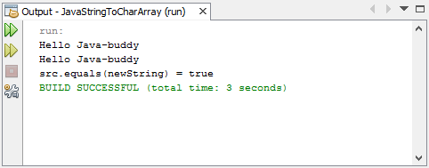 Convert between String and char array