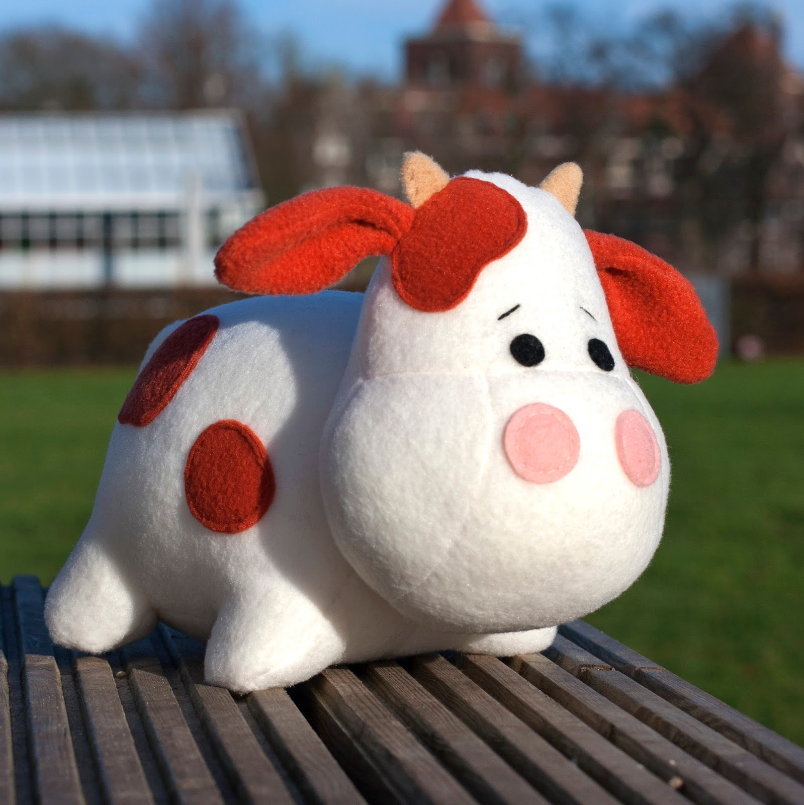 cow plush pattern