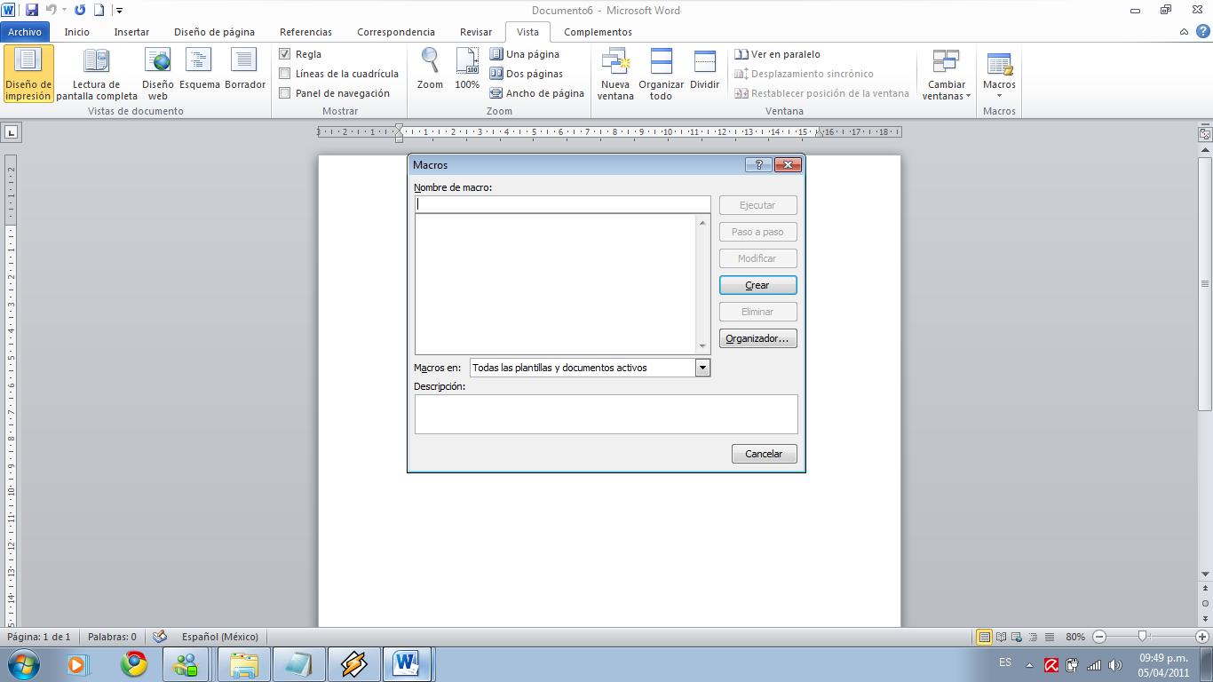 how to create macros word 2010