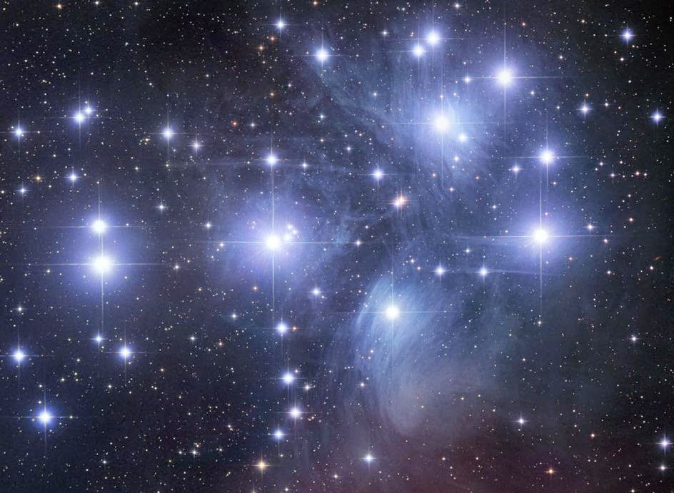 Pleiades star clusters: the eye catching sky object