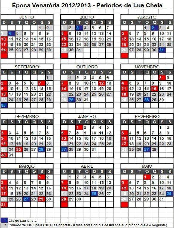 Calendario Lunar 2016 Para Pesca | newhairstylesformen2014.com