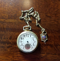 Major Watt Espy Pocket Watch & Kiwanis Pin
