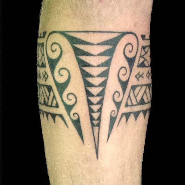 polynesian band tattoo design