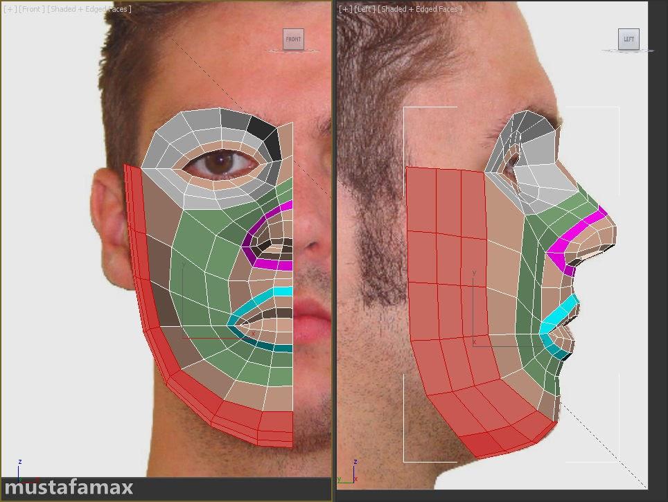 3-تصميم واكساء وتحريك شخصية في 3D MAX 2015
