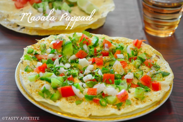 Masala papad recipe easy snack recipes it gives a tasty twist from the regular tea time snacks and both kids adults like this healthy snack forumfinder Images
