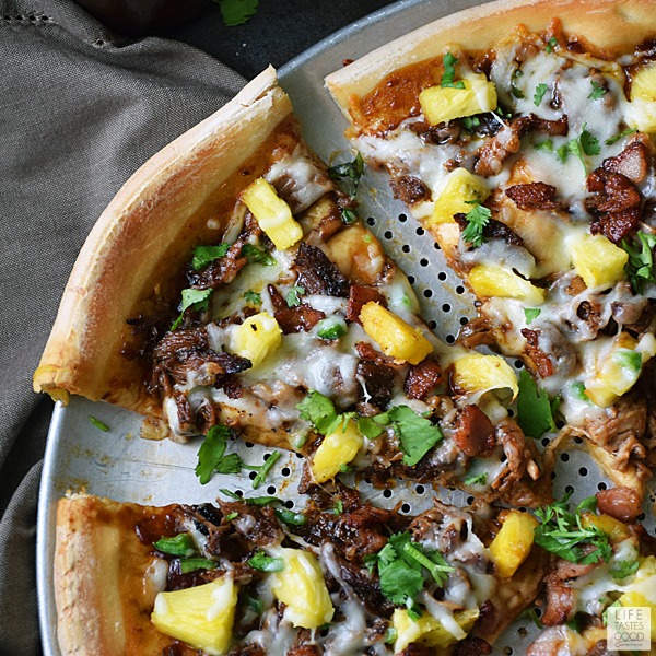 BBQ Pulled Pork Pizza | by Life Tastes Good