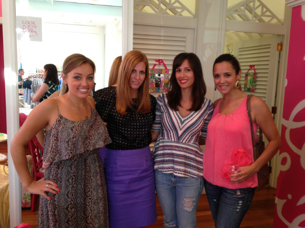 cleveland bloggers at lilly pulitzer beachwood