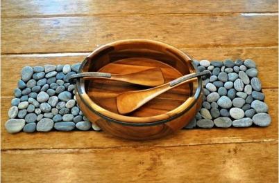 Macam-macam Kerajinan Tangan, Membuat Alas Piring (Placemat) Dari Batu