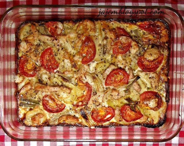 Zapiekanka z ziemniaków a'la pizza