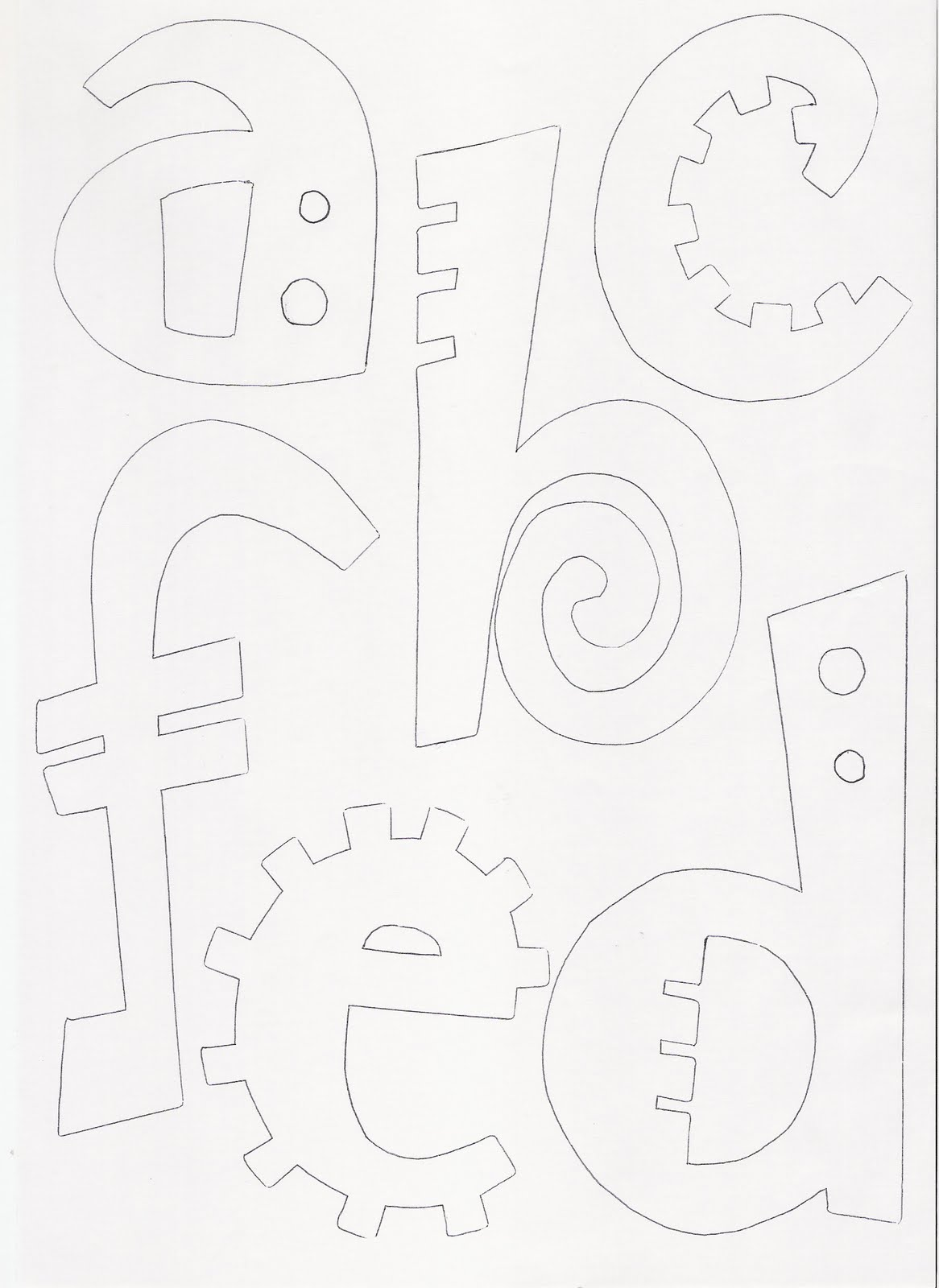 Maestroscomot letras raras for Moldes para pavimentos de hormigon