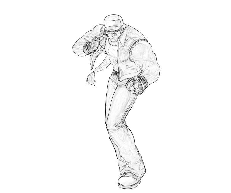 king-of-fighters-terry-bogard-ready-coloring-pages